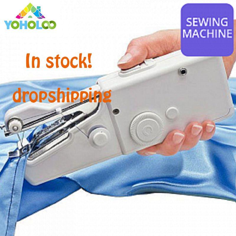 Mini Portable électrique Portable Machine à coudre point coudre couture sans fil vêtements tissus électrique Machine à coudre point ensemble