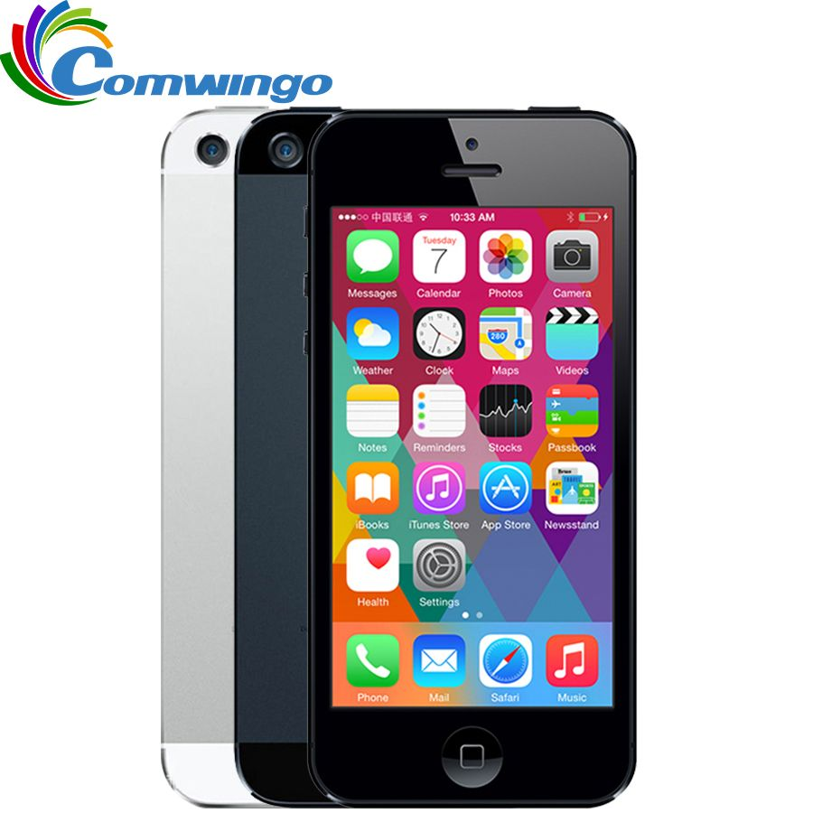 unlocked APPLE iPhone 5 <font><b>Cell</b></font> Phone iOS OS Dual core 1G RAM 16GB 32GB 64GB ROM 4.0 inch 8MP Camera WIFI 3G GPS