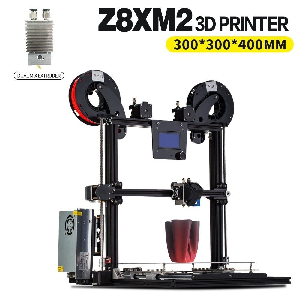 ZONESTAR 2018 Newest Aluminum Metal Large Big Size Fast Assembly Auto Level Laser Engraving Filament Run out Detect 3d printer