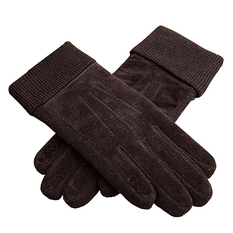 Classical Outdoor Men Winter Warm Motorcycle Gloves XL XXL Black Brown Rowan Pigskin Leather Glove Mittens For Men Free Shipping