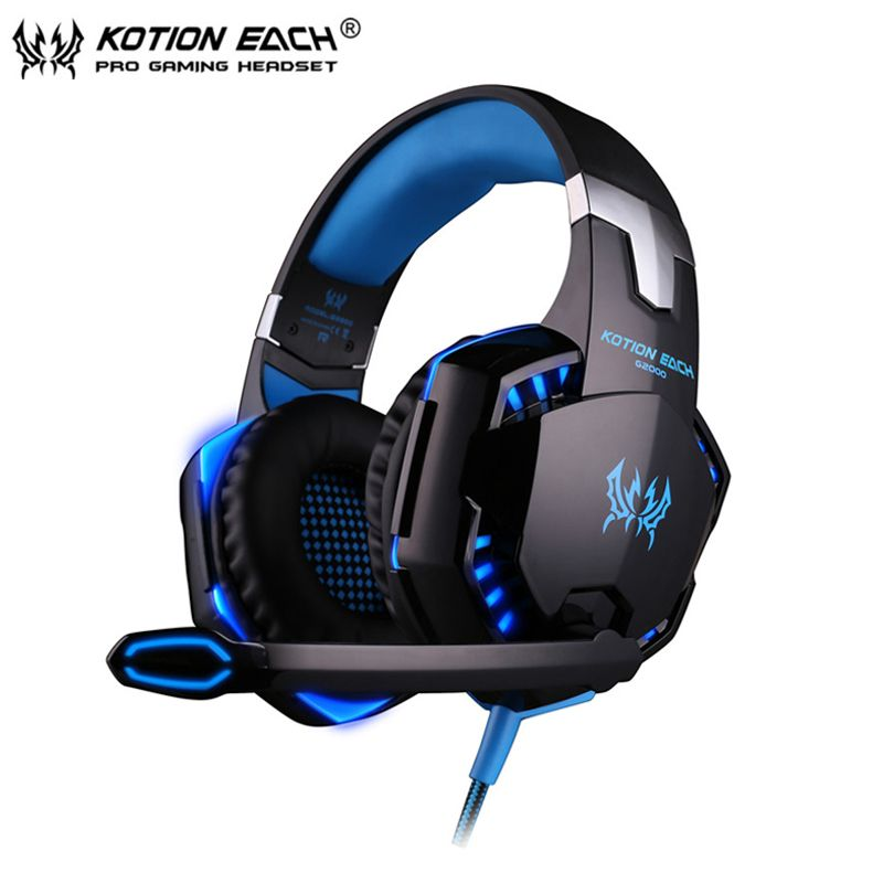 Gaming Kopfhörer casque Kotion JEDER G2000 Besten Computer Stereo Tiefe Bass Spiel Kopfhörer Headset mit Mikrofon LED Licht für PC Gamer
