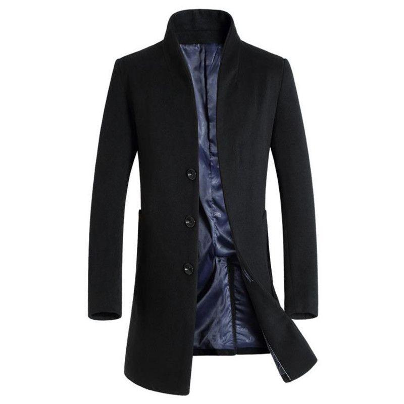 2017 Hot autumn and winter men's jacket coat Business jacket overcoat Windbreaker Solid color Slim free shipping