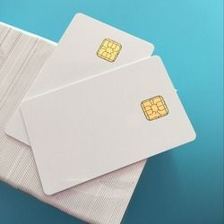 SLE 4428 Contact IC Big Chip - White PVC Smart Card 30mil Glossy For ACR38U BMC Reader Writer- 10Pcs / Pack