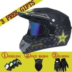Envío libre y 3 regalo nuevo moto rcycle mens del casco moto casco capacete de calidad superior moto cross off road moto cruz casco DOT