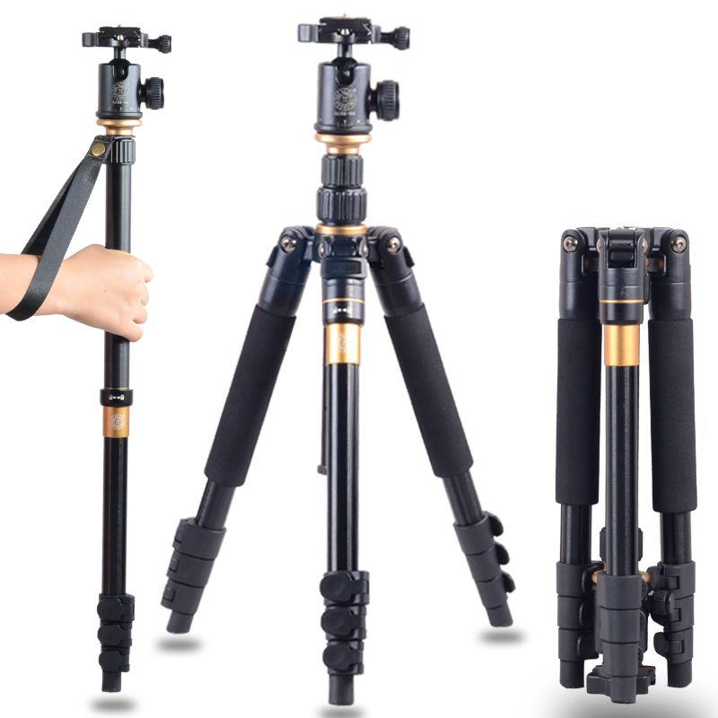 DHL livraison gratuite haute qualité Q-570 Portable Pro trépied monopode & rotule Compact voyage pour appareil photo reflex numérique livraison gratuite