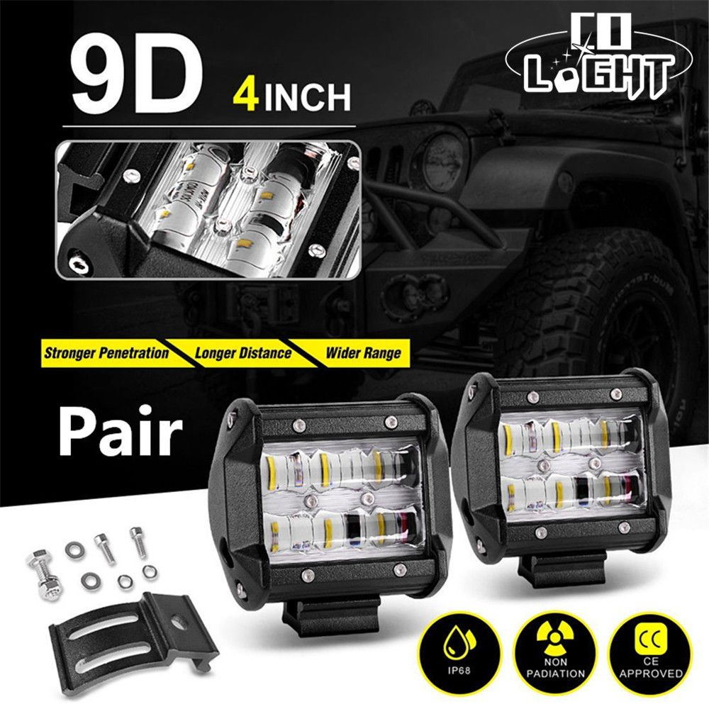 Colight светодиодный свет бар 4 дюйма 30 Вт 9D свет работы светодиодный 12 В 24 В для lada Offroad Грузовик 4x4 4WD внедорожника ATV BMW стайлинга автомобилей Ав...