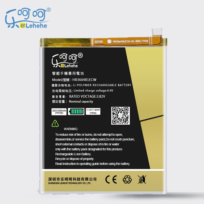 LEHEHE Battery For Huawei P9 Ascend P9 Lite G9 honor 8 5C G9 HB366481ECW 3000mAh Replacement Battery Free Tools Gifts
