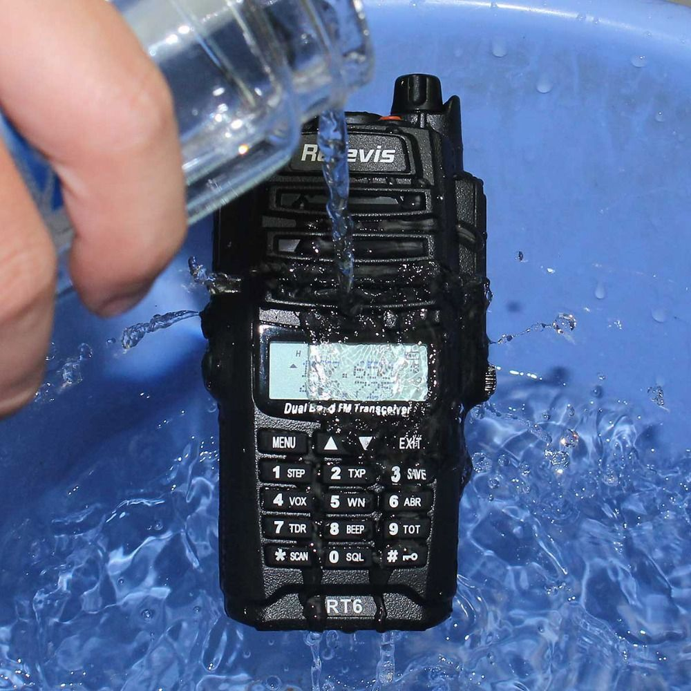 IP67 Professional Waterproof Walkie Talkie Retevis RT6 5W Dual Band VHF UHF VOX LCD Display Portable Two Way Radio Transceiver