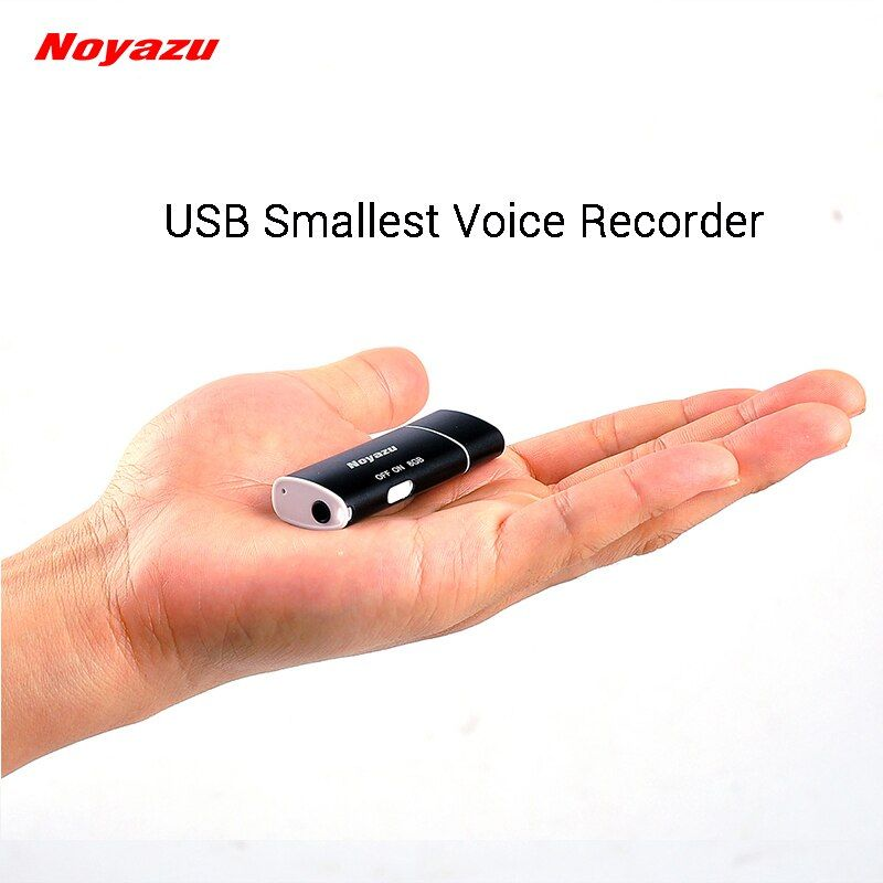 Noyazu V17 Smallest USB Voice Recorder Voice <font><b>Activated</b></font> Digital Audio Recorder Portable Small Mini Voice Recorder Mp3 Player 8GB