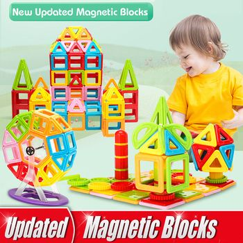 1Piece Big Size Magnetic Blocks DIY Building Single Bricks Parts Accessories 27Different Types Magnet Educational Toys Kids Gift
