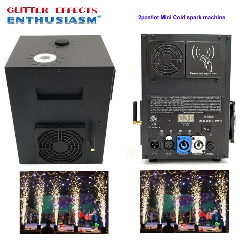 Remote control Fire dance stage cold spark fountain machine for wedding party