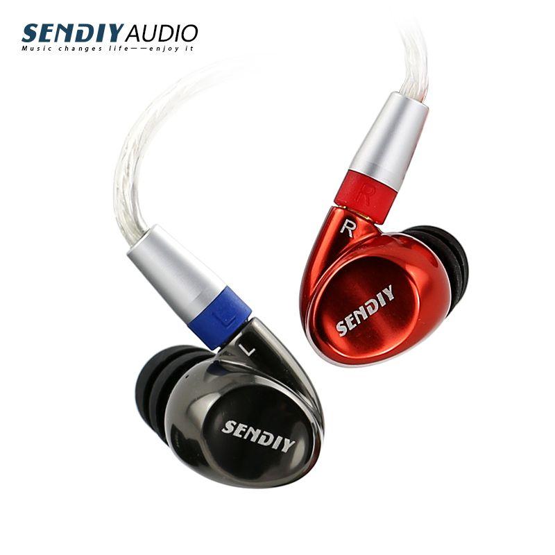 Sendiy M1221 Konzentrischen Dynamische und Anker Doppeleinheit Metall HIFI Ohrhörer In Ohrbügel Kopfhörer Hybrid Technologie Headsethttp: