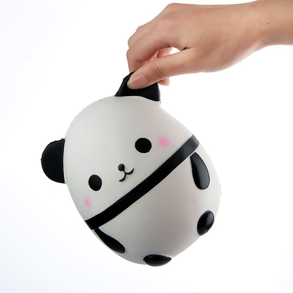 14 cm Jumbo Panda gordo huevo blando Correas decoración slow Rising kawaii animal Kids Juguetes Soft squeeze diversión muñeca regalo P20