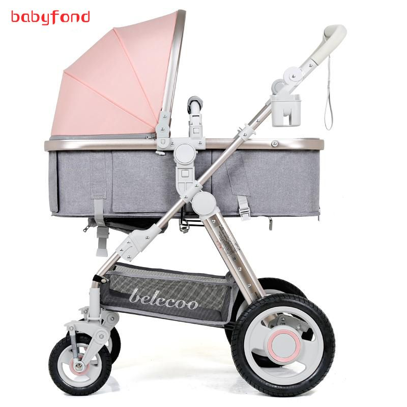 Belecoo baby stroller high landscape can be lying can be folded children's carts light stroller 2 in 1