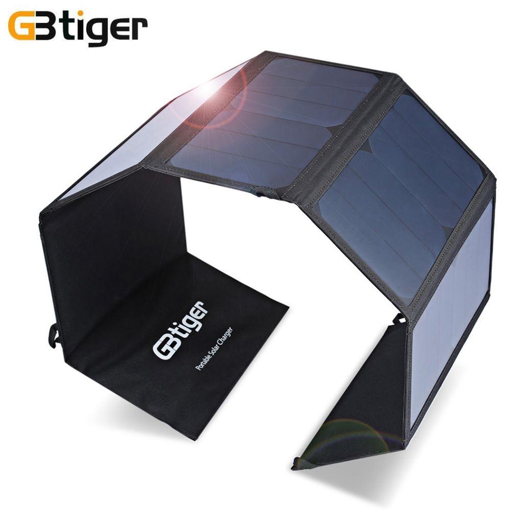 GBtiger 40 W Double Sorties Portable Sunpower Solaire Chargeur de Panneau Solaire En Plein Air Résistant À L'eau Chargeur pour Téléphones Tablet Ordinateur