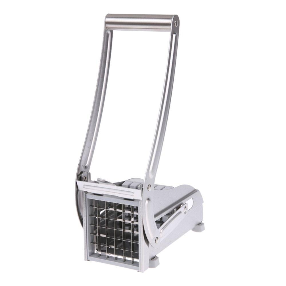 Stainless Steel <font><b>Home</b></font> French Fries Potato Chips Strip Slicer Cutting Cutter Machine Maker Slicer Chopper Dicer + 2 Blades