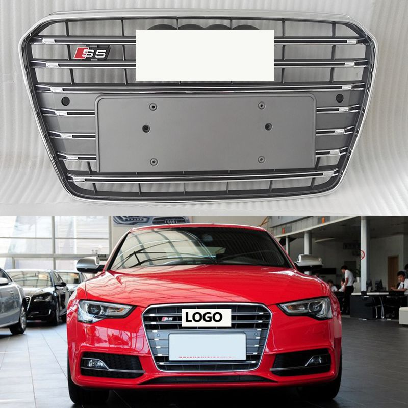 2013-2016 S5 style ABS Black Painted radiator mesh Grille Auto Grills racing grille suitable For Audi A5 S5