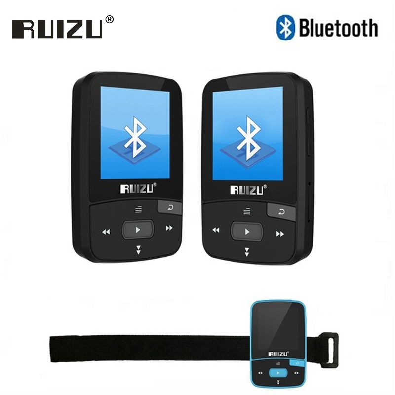 Ruizu Sport Audio Mini Bluetooth Mp3 Player Music Audio Mp 3 Mp-3 With Radio Digital Hifi Hi-Fi Screen Fm Flac Usb 8Gb Lossless