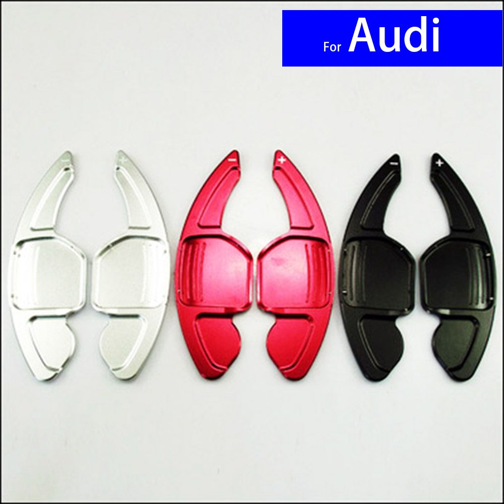 Aluminium Alloy Car Steering Wheel Paddle Shift Gear Paddle Extensions for Audi A3 A4L A5 A6L A7 A8 Q3 Q5 Q7 TT Free Shipping