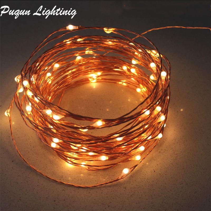 10M 20M 30M 50M cuivre jeu de lumière clignotant LED guirlande de éclairage de noël à LED en plein air pour la décoration intérieure de la maison de noce