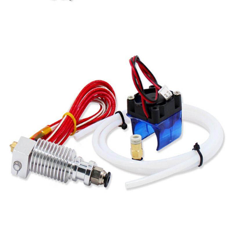 Kee Pang 3D Imprimante V6 À Distance Tête D'impression Extrudeuse Avec Câble Tube Et Support De Ventilateur De Refroidissement J-tête Avec bowden De Refroidissement Ventilateur