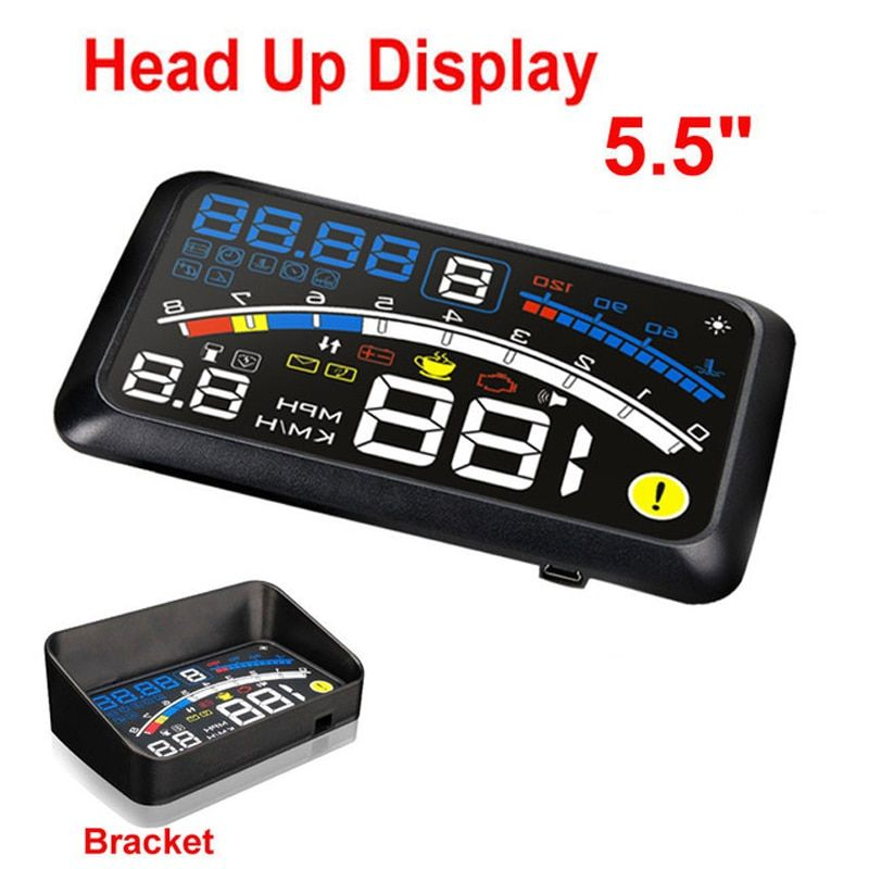ActiSafety HUD Head up Car Projector Car Styling Reader Speed Self-adaptive Car Fuel etc Parameter Display Alarm System