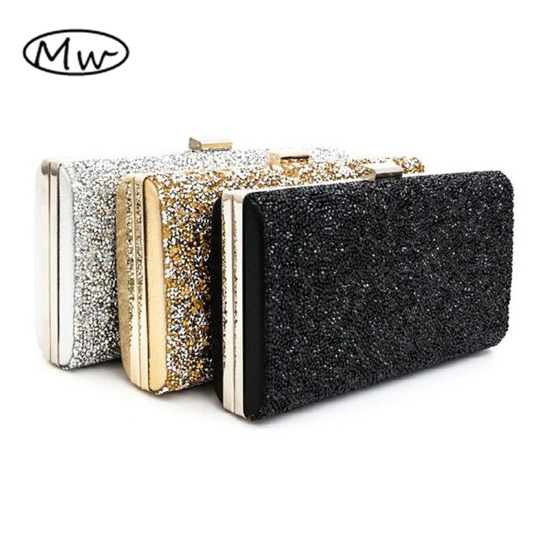 Female Clutch 2018 Luxury Handbags Diamond Evening Bag Bling Banquet Party Wedding Purses Clutch Wallet Gold Silver Black