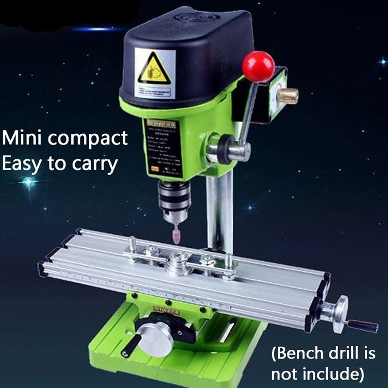 X Y-axis Adjustment Workbench Mini Milling Machine Miller Multifunction Precision Bench Drill Vise Fixture DIY Coordinate Table