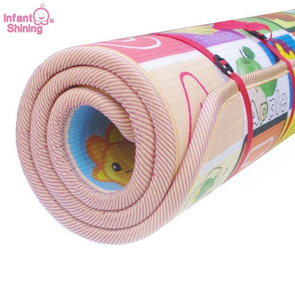 Bébé Tapete Infantil 3 cm épaisseur bébé tapis tapis de jeu mousse Puzzle tapis enfant bambin ramper tapis de jeu couverture pour bébé 200*180 cm