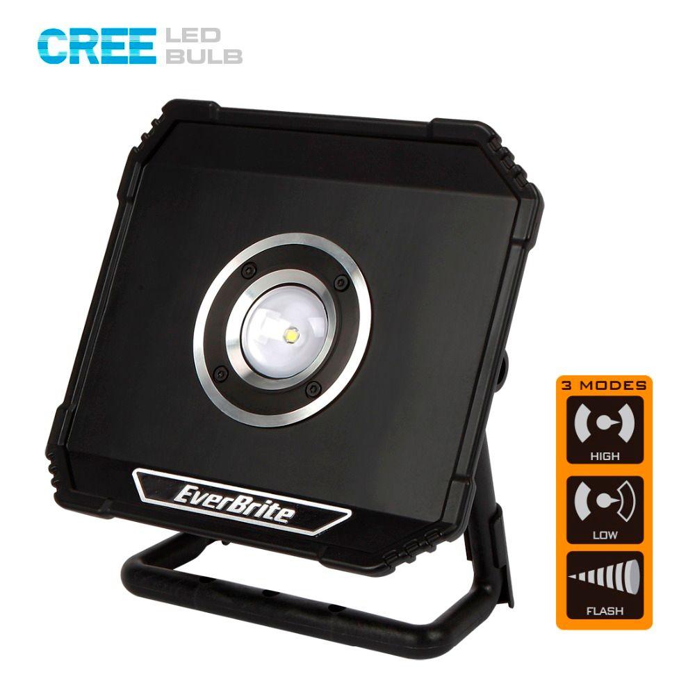 EverBrite 800 Lumens LED Projecteur Rechargeable Portable Projecteurs Étanche Éclairage Extérieur pour Camping D'urgence
