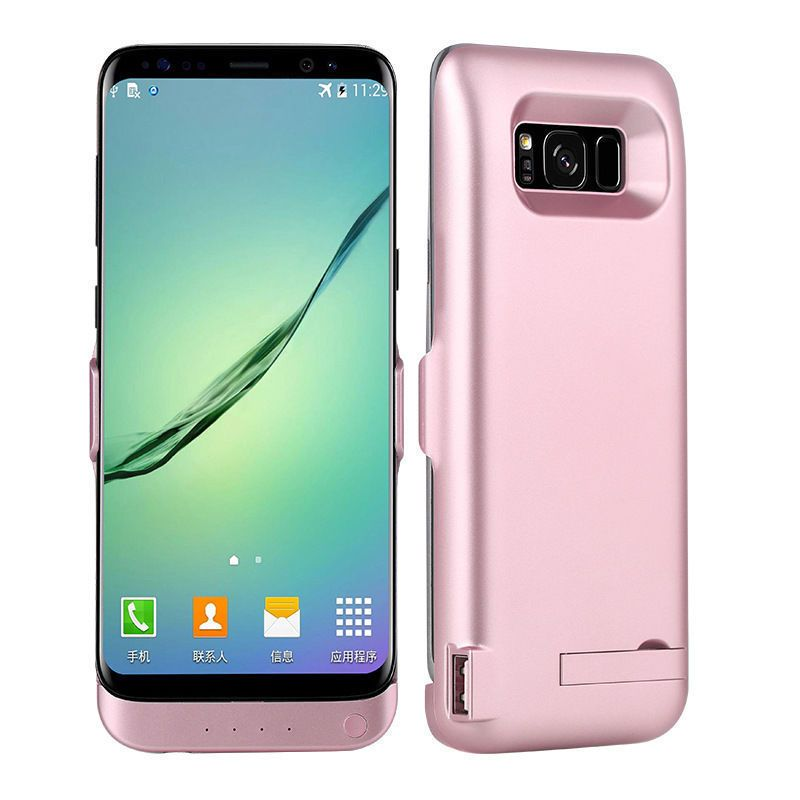 Battery Charger Portable Power Bank Cover Case For Samsung Galaxy S8 Plus Waterproof Aluminium Kickstand Pack Charging Backup