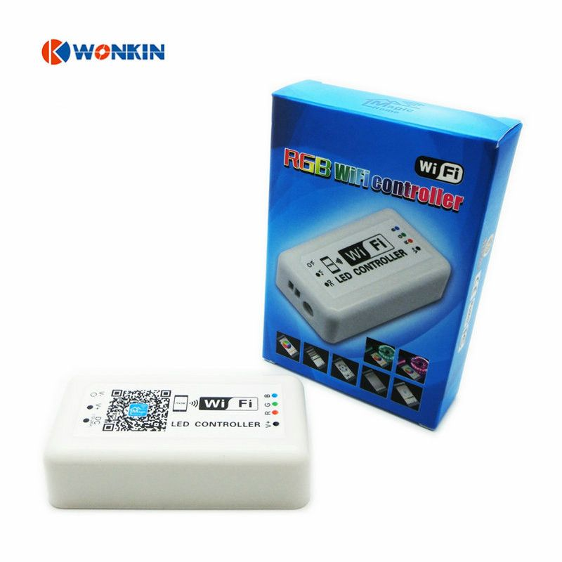 RGB LED контроллер DC12-24V WI-FI для RGB Светодиодные ленты применимо к iOS и Android мобильного