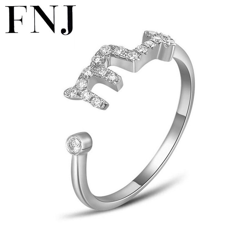 FNJ 925 Silver Constellations Ring for Women Wedding Punk AAA Crystal Cubic Zircon 100% S925 Sterling Solid Silver Rings