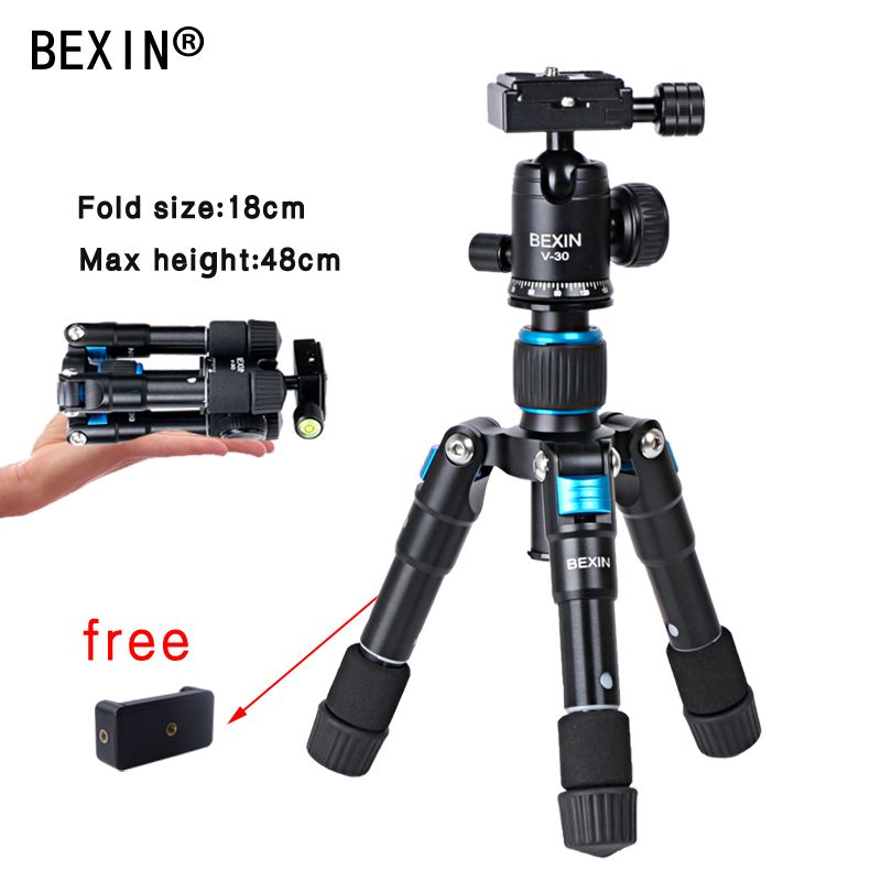 Universal Tripod Mount Adapter Cell Phone Compact Travel Foldable Flexible Mini Phone Tripod Ball Head For Phone Nikon Camera