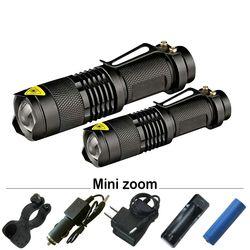 Pencahayaan Portabel Mini Zoom Senter LED Torch Cree XML T6 L2 Q5 Tahan Air Lanterna Biaya Light18650 atau 14500 Senter Torch