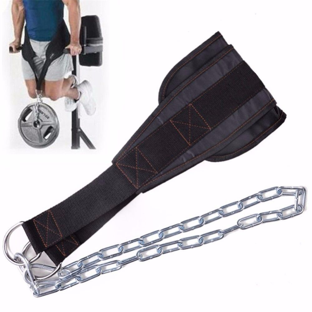 Crossfit Sport Belt With Chain Adjustable Gym Musculation Waist Lifting Weights Squat Dip Pull Up Weightlifting Equipment 60kg