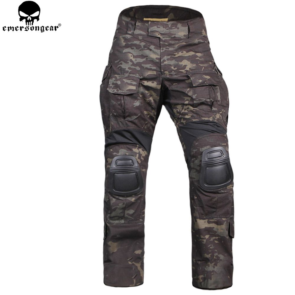 EMERSONGEAR Neue Gen3 Kampfhose Mit Knieschützer verschleißfesten Training Kleidung Airsoft Tactical Pants Multicam Schwarz