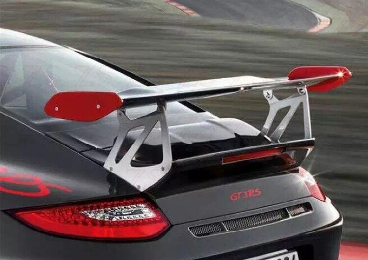 Carbon Fiber & ABS PRIMER AUTO HINTEN FLÜGEL STAMM LIP SPOILER FÜR Porsche Carrera 911 997 2005 2006 2007 2008 2009 2010 2011 GT GT4