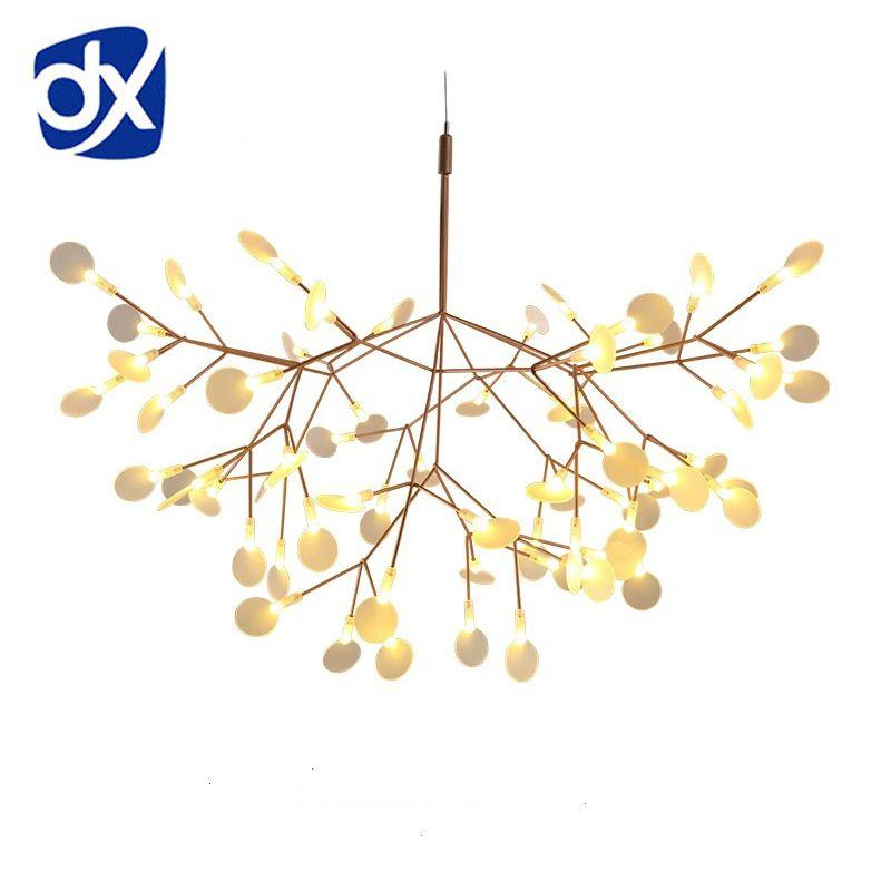 Creative Art Designer LED Chandelier Luxury Tree Leaf Modern Pendant Lamps Deco Chandeliers For Dining Room Home Bedroom