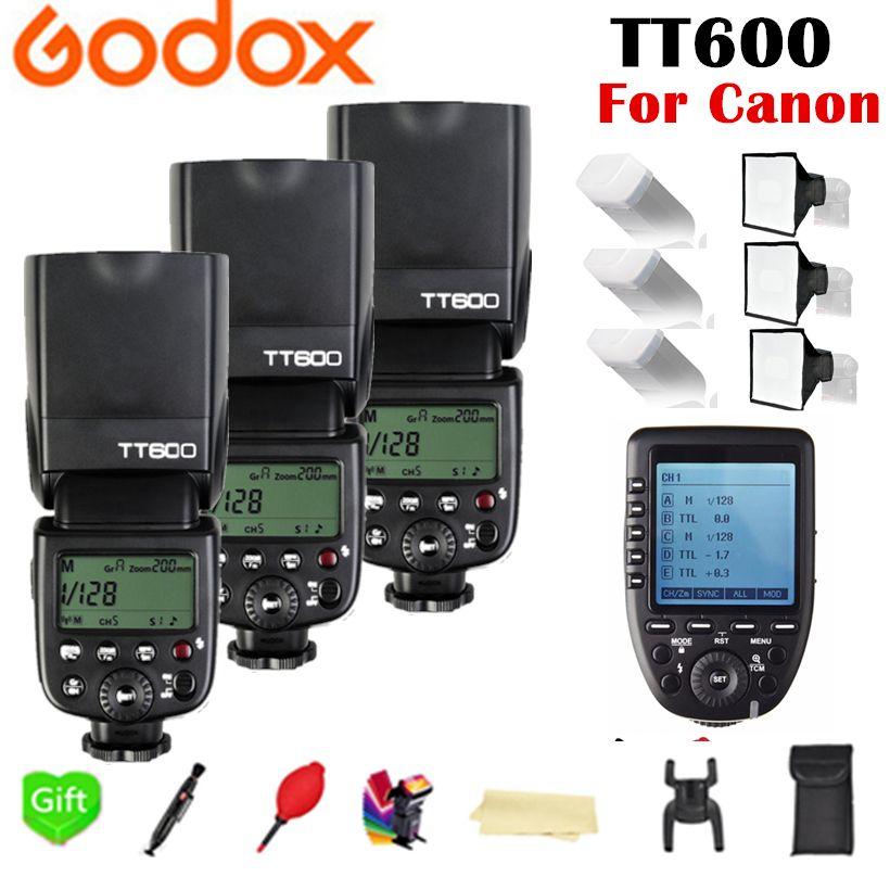 Godox TT600 TT600S 2.4G Wireless TL HSS 1/8000s Speedlite Flash + X1T-C 2.4G Wireless TTL Trigger for Canon Camera