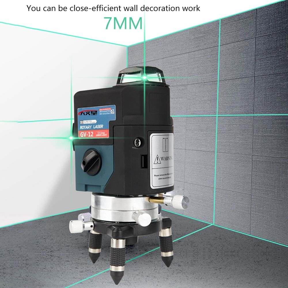 12Line 3D Green Laser Level Nivel a Laser 360 Graus Lazer Level Profissional Livella Lasers for profissional construction tools