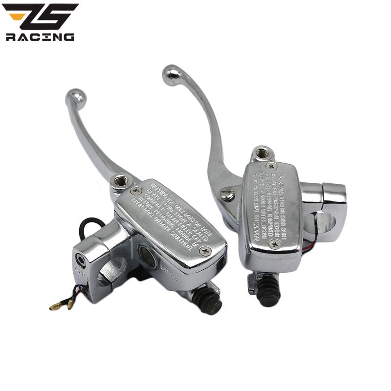 ZS Racing New 1 Inch 25mm Universal Motorcycle Brake Master Cylinder Hydraulic Clutch Lever Left & Right One Set