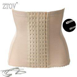 ZTOV Más tamaño Mujeres cintura corsés formación y bustiers Negro mujeres de la correa de maternidad posparto cintura corsé de la talladora del cuerpo de adelgazamiento
