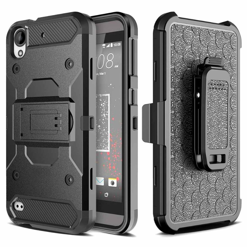 Hybrid Armor Stand Plastic Belt Clip Holster Back Shockproof case cover for HTC Desire 530 HTC Desire 630 HTC 530 630