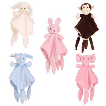 Мягкие игрушки для малышей 0-12 месяцев, полотенце, успокаивающее спальное животное, одеяльце-полотенце, Обучающие переносные детские погрем...
