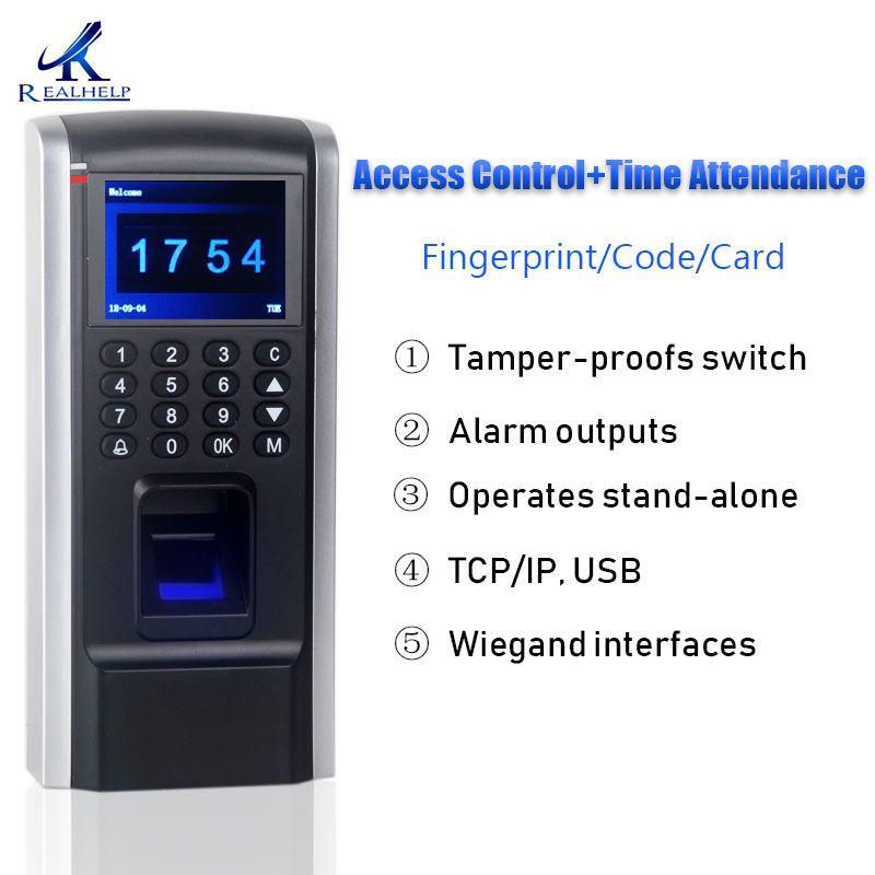 Moins cher Dispositif de Contrôle D'accès D'empreintes Digitales TCP IP Temps de Présence Des Employés avec Contrôle D'accès F8 Clavier D'accès Biométrique RFID