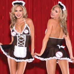 Kostum seksi Pakaian Cosplay Wanita Plus Ukuran Seksi Baby Dolls Sexy Lingerie Hot Erotis Lingerie Sexy Hot Porn Lingerie XXXL