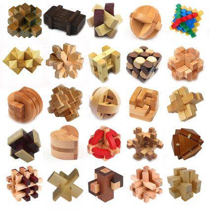 Klassische 3D Holz Puzzle IQ Geist Denkaufgabe Grat Puzzles Spiel Spielzeug für Erwachsene Kinder Kinder