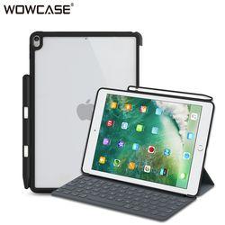 Case untuk iPad Pro 10.5 Wowcase Keras Kembali Kasus Pensil Pemegang Sempurna Sesuai dengan Smart Keyboard Slim Cocok Back Cover untuk ipad Pro 10.5