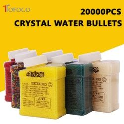 TOFOCO 20000 Pcs & 1 Botol Warna Kristal Orbeez Paintball Aksesoris Mainan Kristal Lumpur Tanah Air Lembut Bola